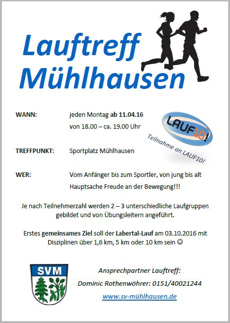 Lauftreff Mühlhausen