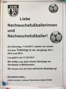 Trainingsauftakt Jugend 2017